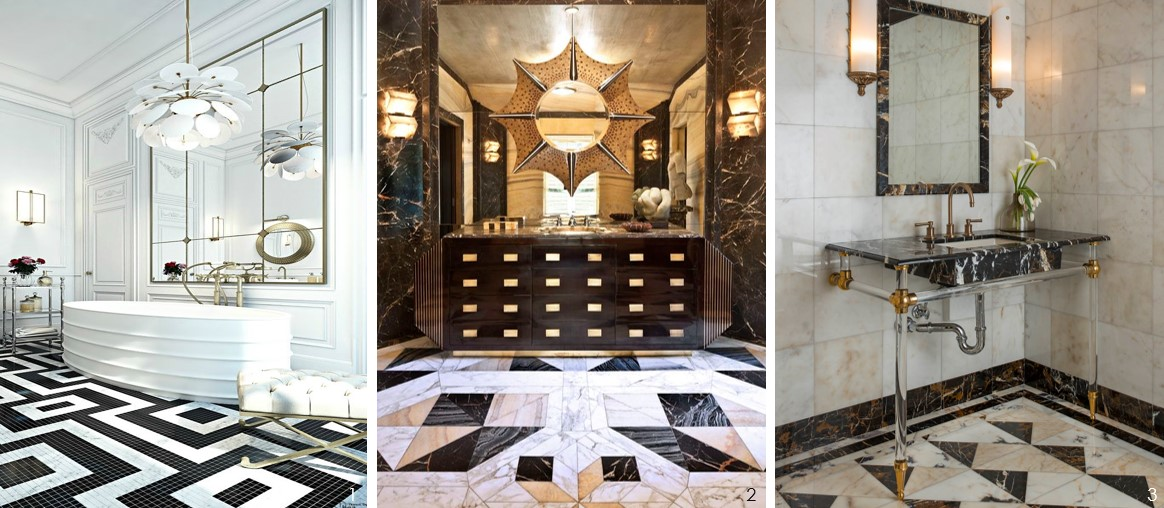 And Smaller Than Other Rooms In The House They Too Can Strut A Cool Floor Design Dare To Be Daring Your Bathroom Youll Never Want Leave